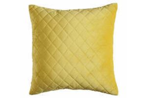 Photograph of Yellow Diamond Stitch Cushion – 45cmSQ