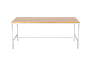 Photograph of Bench Dining Table with Light Wood Top – 1.8mL x 70cmW x 75cmH