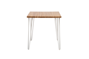 Photograph of Hairpin Cafe Table – Light Wood – 70cmSQ x 75cmH