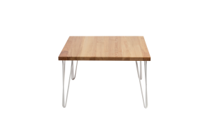 Photograph of Hairpin Coffee Table – Light Wood – 70cmSQ x 38cmH
