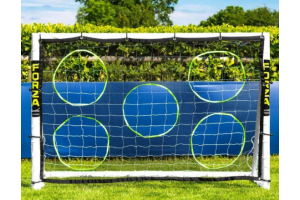 Photograph of Soccer Goal Post and Target Sheet