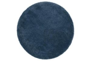 Photograph of Round Dark Blue Rug