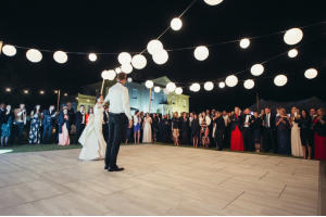 Photograph of White Wash Oak Dance Floor – 5.5m x 6.4m (Rectangle)