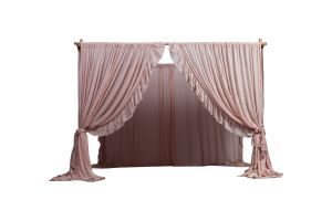 Photograph of Arbour - Bamboo Four Post with drapery ( 3 Drape Colour Options)