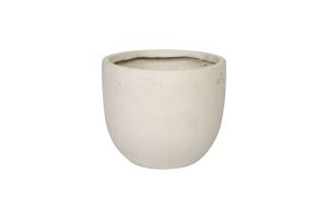 Photograph of Medium Ceramic White Pot – 40cmD