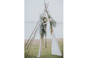 Photograph of Naked Tipi (Silks & Florals not included)