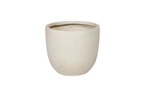 Photograph of Small Ceramic White Pot – 32cmD