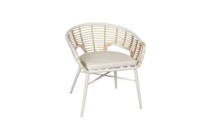 Photograph of White Rattan Caleb Stacking Chair