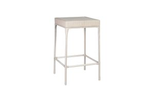 Photograph of White Rattan Cocktail Table – 105cmH x 60cmSq