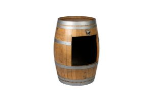 Photograph of Restored Wine Barrel with Storage Cut Out 96cmH x 66cmD