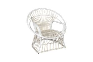 Photograph of White Rattan Garden Chair