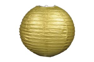 Photograph of Gold Paper Lantern – Jumbo 50cmD