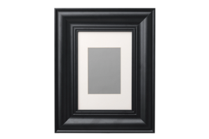 Photograph of Skatteby Black Picture Frame -  21cmW x 30cmH