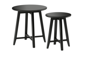 Photograph of Nest of Tables Black – 51cmH x 49cmD + 45cmH x 35cmD