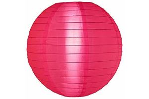 Photograph of Nylon Lantern – Hot Pink Medium 35cmD