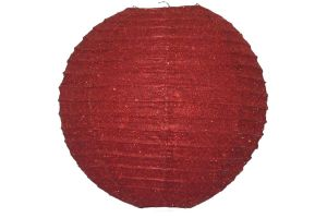 Photograph of Red Glitter Paper Lantern