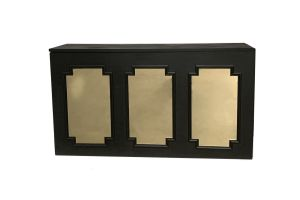 Photograph of Gold Mirror Insert  - For Black Wainscoting Bar (Set of 3)