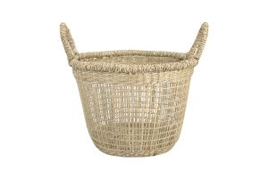 Photograph of Seagrass Low Basket w/ Handles