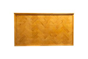 Photograph of Wooden Herringbone Bar – 2mL x 60cmD x 1.1mH (self standing)