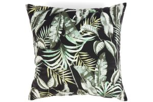 Photograph of Black Vintage Palm Cushion 43cmSQ