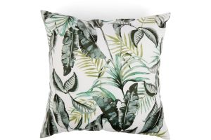 Photograph of White Vintage Palm Cushion 43cmSQ