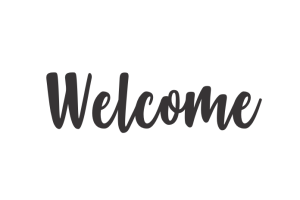 Photograph of Welcome Sign – Black Wooden 2.6mW x 75cmH