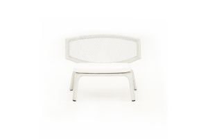 Photograph of White Rattan Miami Lounger