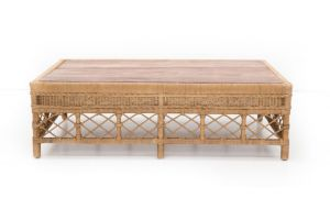 Photograph of Galley Bay Natural Rattan Coffee Table – Small 1.39L x 58cmD x 40cmH