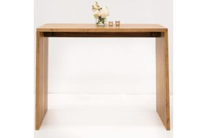 Photograph of Galley Bay Teak High Bar Table - Natural