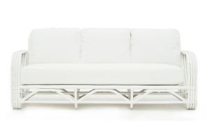 Photograph of Hamptons Cane White 3.5 Seater Sofa – 1.9mL × 90cmD × 80cmW