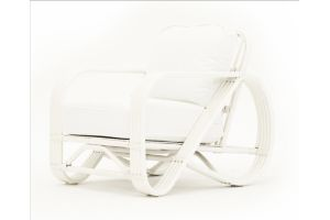 Photograph of Hamptons Cane White Arm Chair