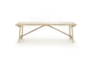 Photograph of Hamptons Coastal Dining Table – 2.4mL x 1mD x 76cmH