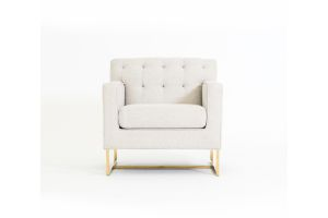 Photograph of Luxe Linen Arm chair - Natural