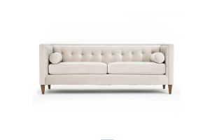 Photograph of Luxe Velvet 3 seater lounge – Oyster  – 2.13mL × 84cmD × 80cmH
