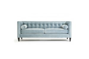 Photograph of Luxe Velvet 3 seater lounge – Silver Blue – 2.13mL × 84cmW × 80cmH