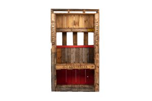 Photograph of Pallet Back Bar Wall with cubby and shelf