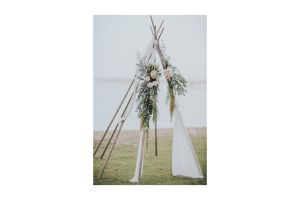 Photograph of Naked Tipi (Drapes & Florals not included)