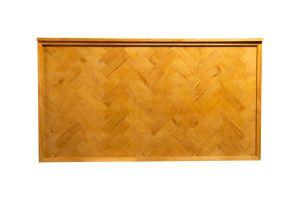Photograph of Wooden Herringbone Bar – 2mL x 60cmD x 1.1mH (self standing)