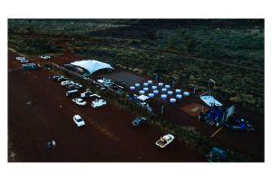 Photograph of Bedouin Stretch Tent Platinum Grey – 15m x 12m