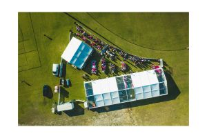 Photograph of Marquee Hocker White Roof – 10m x 30m