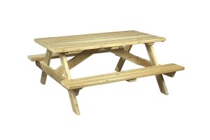 Photograph of Picnic Table Wooden Traditional
