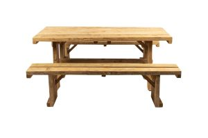 Photograph of Picnic Table Wooden with benches