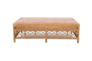 Photograph of Galley Bay Natural Rattan Coffee Table Large  1.39mL x 88cmD x 42cmW