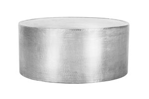 Photograph of Hammered Aluminium Round Coffee Table