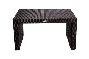 Photograph of Rattan Coffee Table Black Small