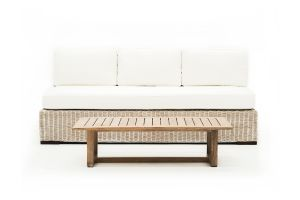 Photograph of Hamptons 4 Seater Lounge without arms – 1.98mL × 1mW × 7cmD