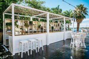 Photograph of White Cabana Canopy with Sheer Drapes – 2.7mL x 2.7mD x 2.7mH