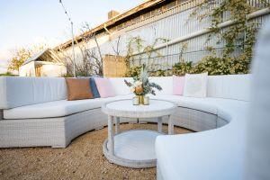 Photograph of Hamptons White Rattan Circular Coffee Table