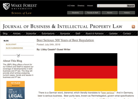 The Wake Forest Journal of Business & Intellectual Property Law