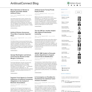 AntitrustConnect Blog